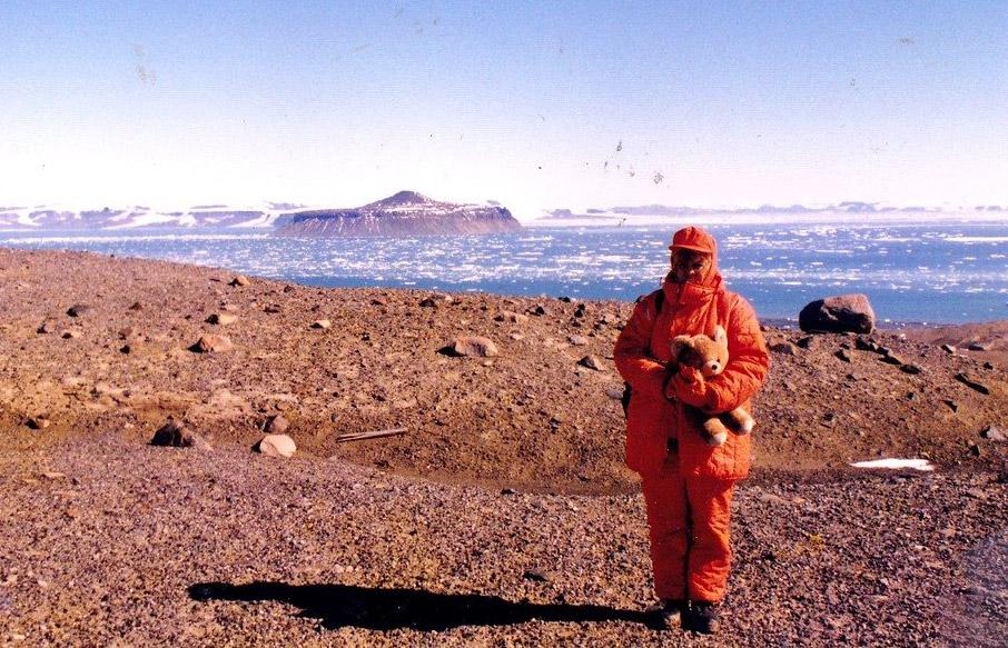 Mariea Crâșmaru la Polul Sud